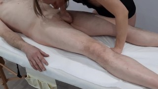 Massage Room camera (deepthroat and pussy creampie)