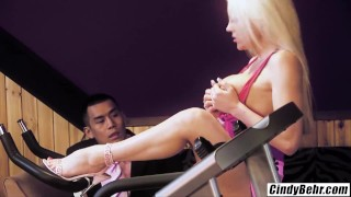 Cindy Behr Asian dick Keni Styles spinner rides like machine cum on face