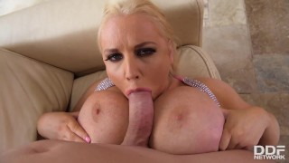 Blondie Jordan Pryce Gets Her Jumbo Jugs Greased at the Pool