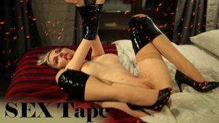 Bondage SEX tape restrained BDSM sex - Mykinkydope