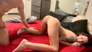Tiny MILF Loves to CUM getting Eaten and Pounded with a DEEP Hard Creampie