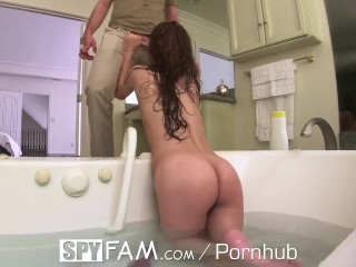 SPYFAM Step Sister Takes Advantage Of Step Bro In The Tub