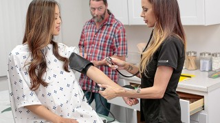 Caring Stepdad Gets His StepDaughter Alexia Anders At Medical Exam And Both Get Special Treatment