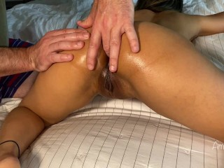 Big Booty Asian Gets Pussy and Ass Fingered Until She Cums Amateur AmyGabe