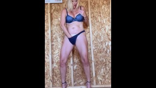 """Horny MILF makes Home Depot """"She-Shed"""" her Bitch!!!"""