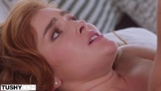 TUSHY Stunning redhead Jia Lissa in her First Anal Scene