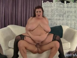 Big boobed mature BBW Lady Lynn hardcore sex