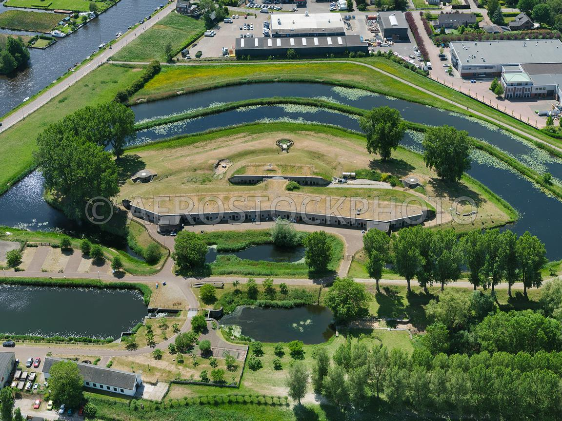 aerial view | Aalsmeer, Fort near Aalsmeer (Fort Rijsenhout) is a fort of  the Defence Line of Amsterdam | 306371