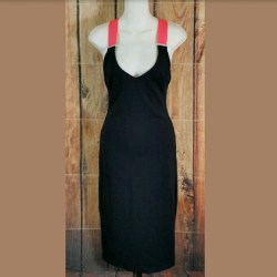 f97bd1bf90 Herve Leger Black Deep Plunge Neck Bandage Maxi Dress Hlc1011 Herve. 219 43  22. Bebe Bebe Black Bandage Maxi Dress Size Small Neon Pink From