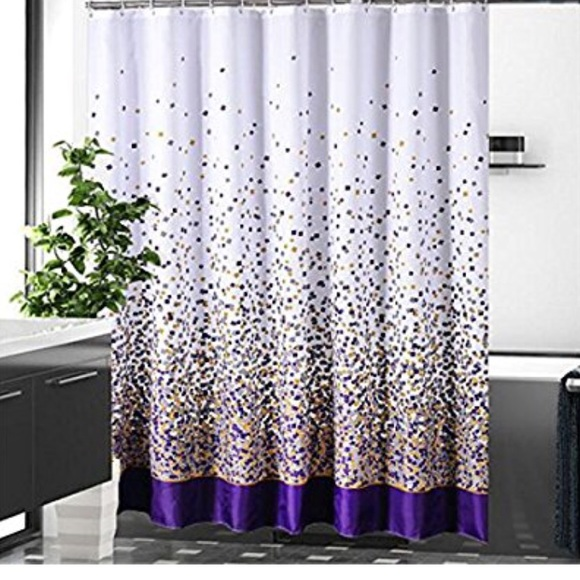 gray purple gold and white shower curtain hooks