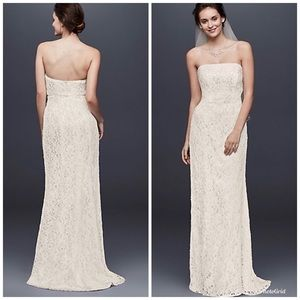 GALINA   Poshmark Allover Beaded Lace Sheath Gown