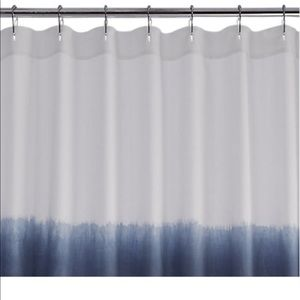 cb2 ombre shower curtain