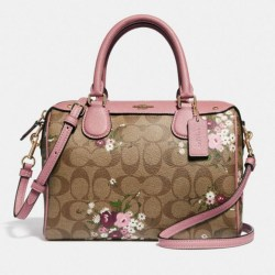 Flower Canvas Leather Coach Purse   Gardening  Flower and Vegetables 06fe8717ad