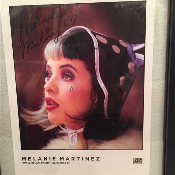 melanie martinez signed autograph poster