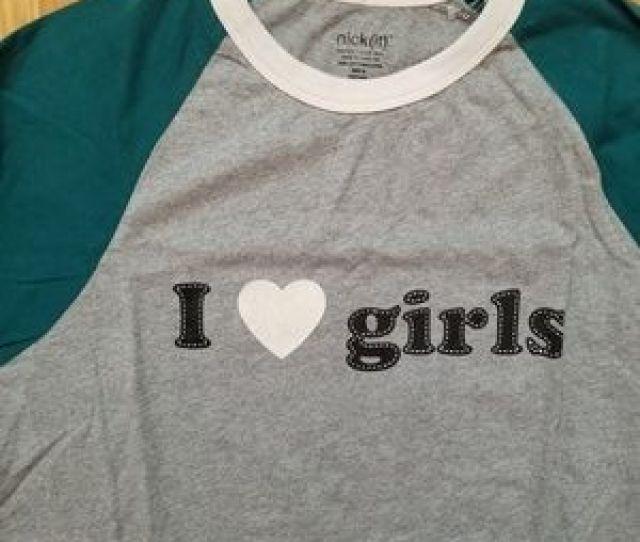 Nickit Tops Nickit I Heart Girls Baseball Shirt
