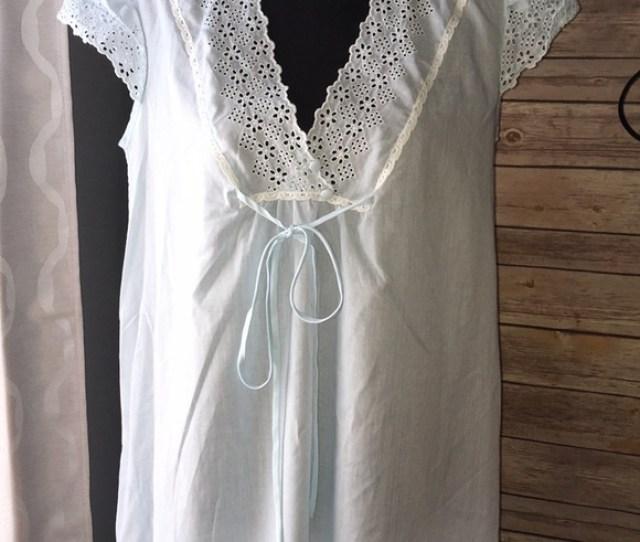 Vintage Eyelet Sheer Cotton Nightgown