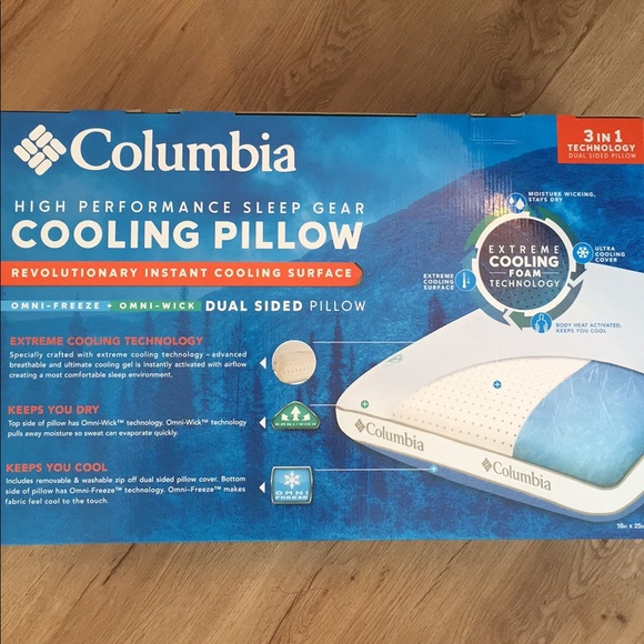 columbia high performance cooling pillow queen