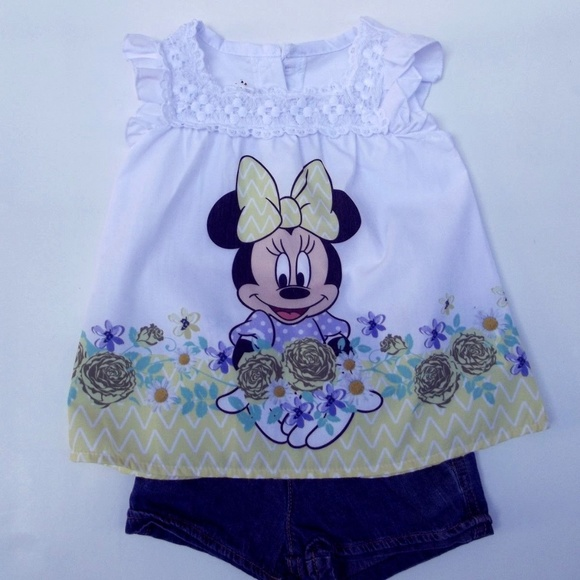 Disney Matching Sets | Baby Girl Minnie Mouse Clothes 12 ...