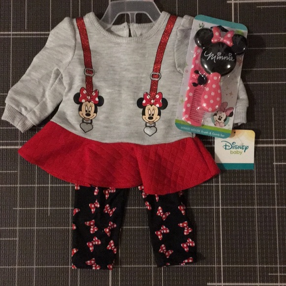 Disney Matching Sets | Baby Girls Minnie Mouse Bundle ...