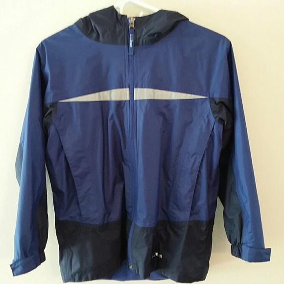 Llbean Boys Trail Model Rain Jacket Coat Sz10 12