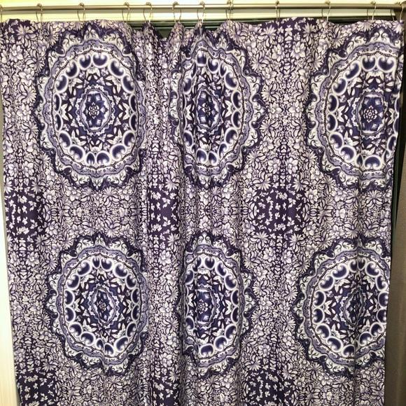 jessica simpson shower curtain medallion