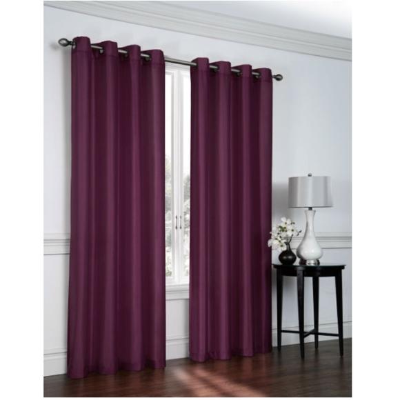 2 new plum purple curtain panels