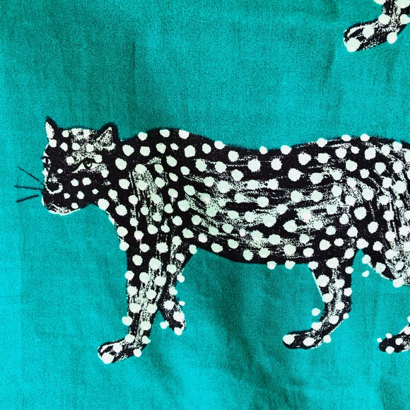 opalhouse leopard shower curtain
