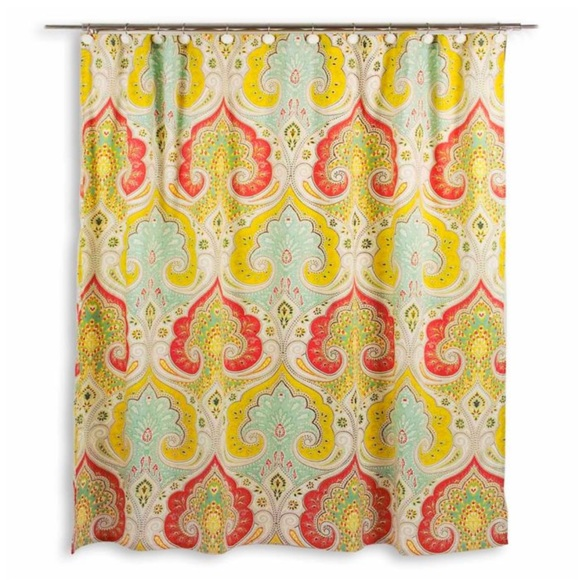 echo design jaipur paisley shower curtain