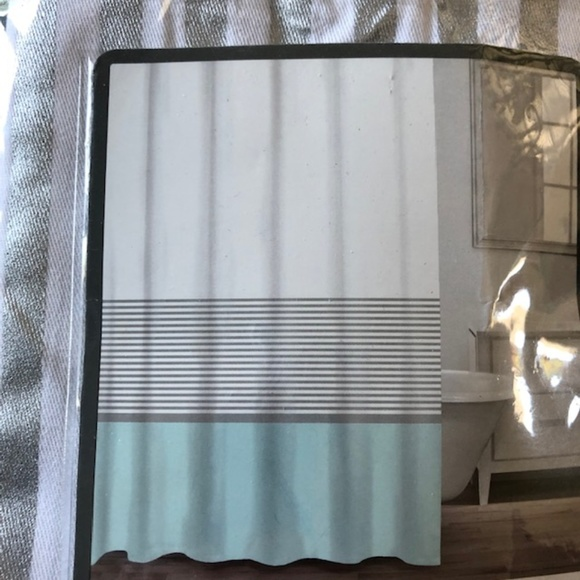caro fabric shower curtain new in package