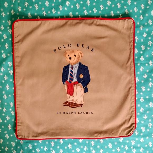 عصير نسر كهف ralph lauren polo bear pillow case