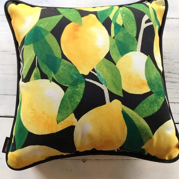 nwt patio decorative lemon indoor outdoor pillow