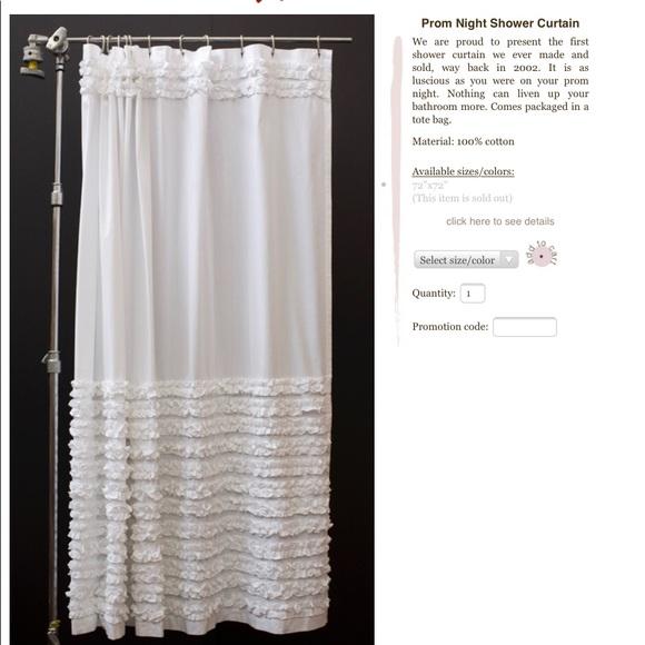anthropologie shabby chic white shower curtain