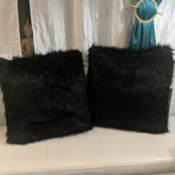 black fur pillows online