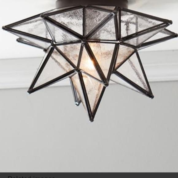 pottery barn olivia star flush mount light s