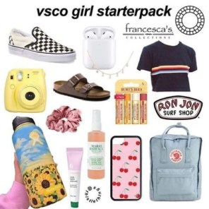 VSCO girl, teen girl gifts, gifts for girls, trendy girl gifts