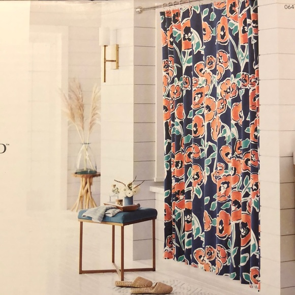 threshold floral shower curtain