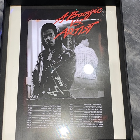 a boogie wit da hoodie autographed signed poster