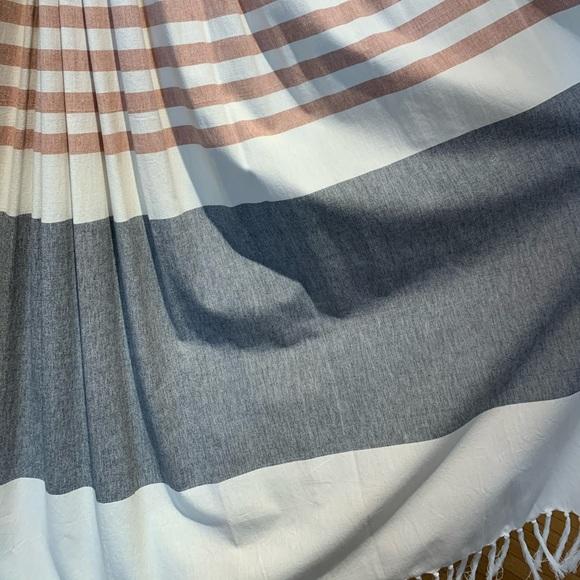 karla copper cb2 shower curtain