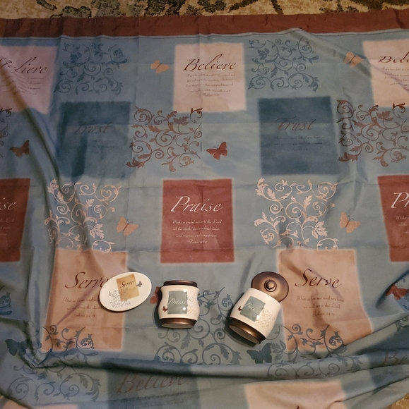 mainstays butterfly blessings shower curtain set