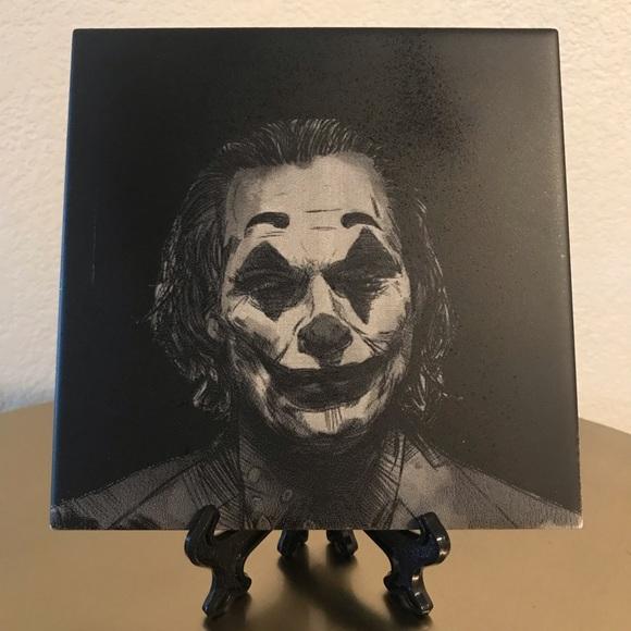 the joker custom laser engraved ceramic tile 6x6