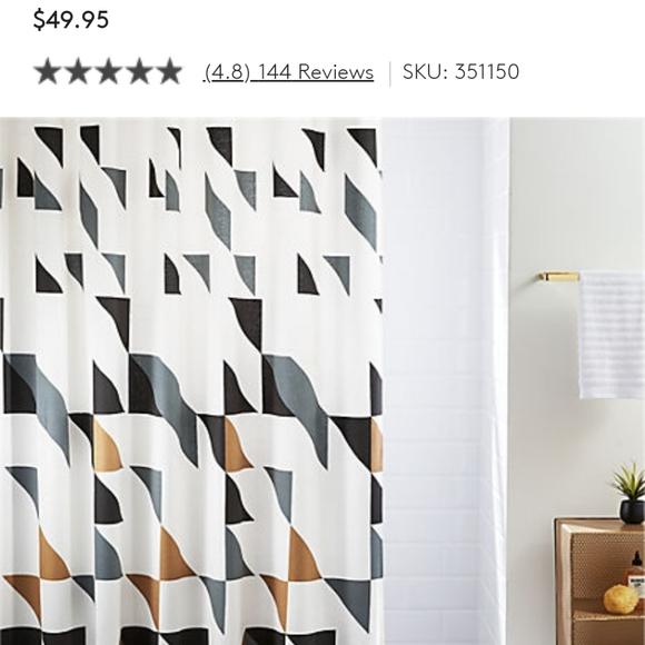 cb2 triangle shower curtain