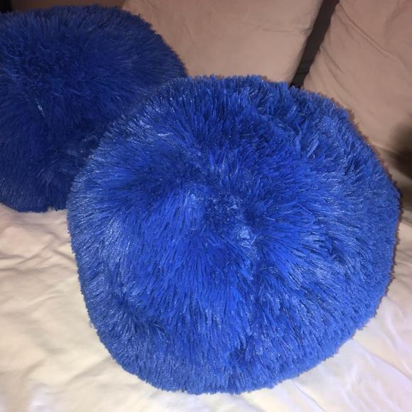 fluffy blue pillow online
