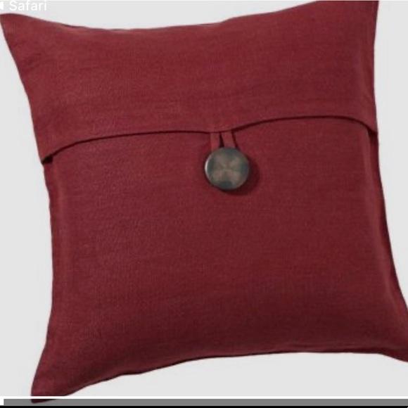 pottery barn textured linen pillow cover