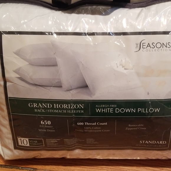 the seasons collection white down pillow