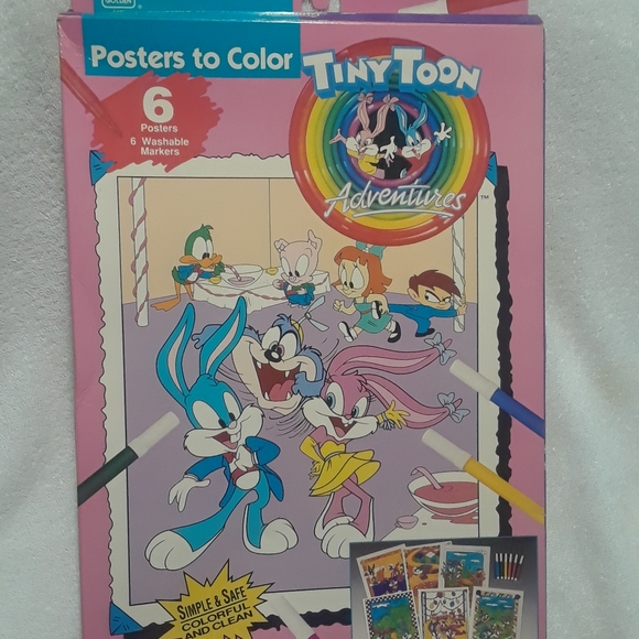 vintage looney tunes posters to color