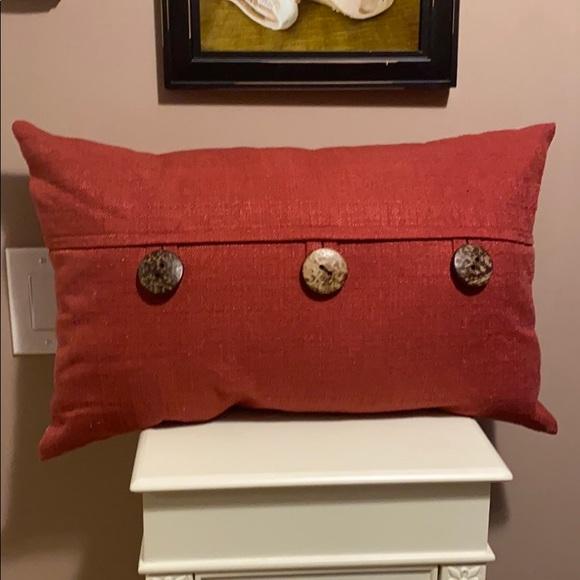 burnt orange lumbar pillow 12x20