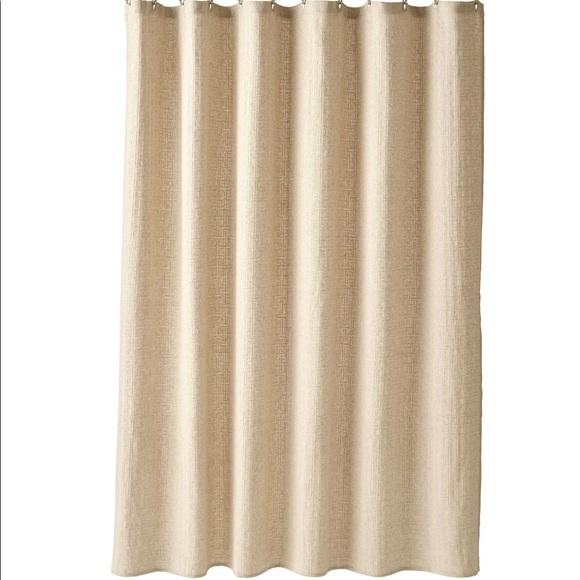 nwot fieldcrest basketweave linen shower curtain