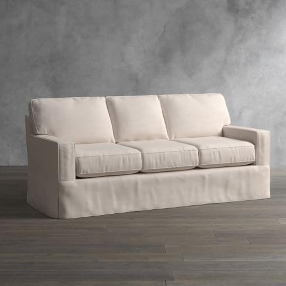 pottery barn pb comfort square arm sofa slipcover