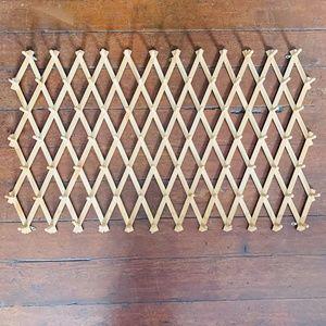 vintage wooden accordion 84 peg expandable rack