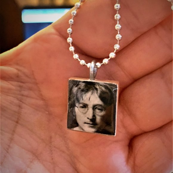 john lennon scrabble tile necklace